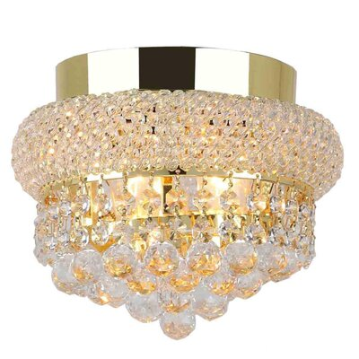 Carson 3-Light Flush Mount Finish: Gold