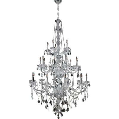 Provence 25-Light Crystal Chandelier Crystal Color: Clear