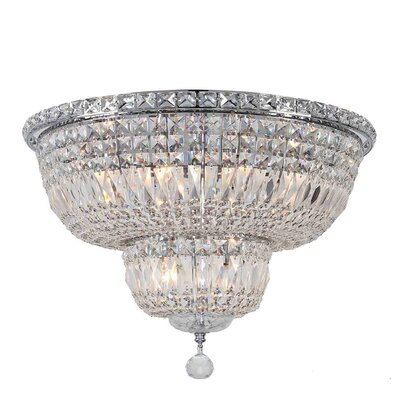 Empire 10-Light Flush Mount Finish: Chrome