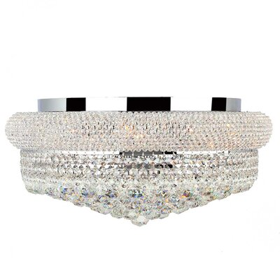 Jae Crystal Empire 10-Light Flush Mount