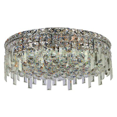 Anjali 6-Light Crystal Flush Mount