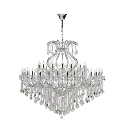 Maria Theresa 49-Light Crystal Chandelier Finish: Chrome