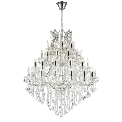 Maria Theresa 44-Light Crystal Chandelier Finish: Chrome