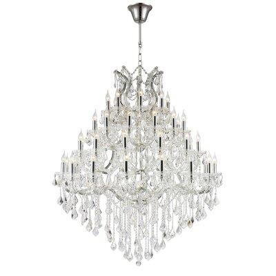 Kiazolu 44-Light Crystal Chandelier Finish: Chrome