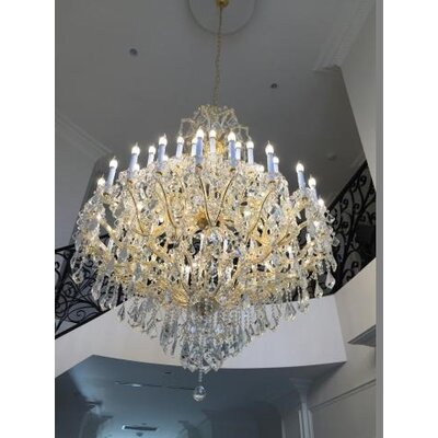 Maria Theresa 44-Light Crystal Chandelier Finish: Gold