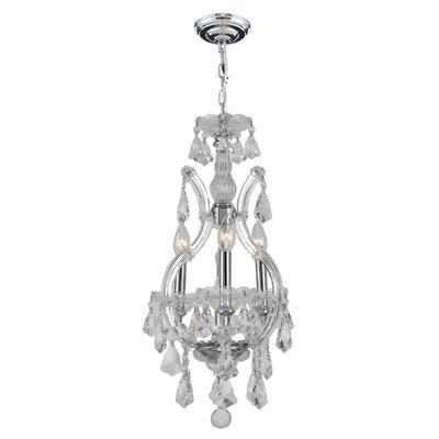 Kiazolu 4-Light Crystal Chandelier Finish: Chrome