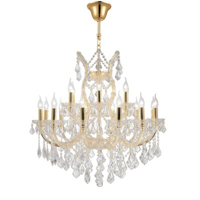 Maria Theresa 19-Light Crystal Chandelier Finish: Gold