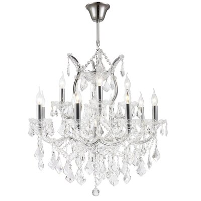 Maria Theresa 13-Light Crystal Chandelier Finish: Chrome