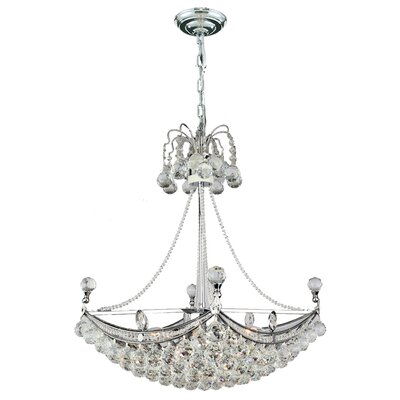 Empire 6-Light Crystal Chandelier Finish: Chrome
