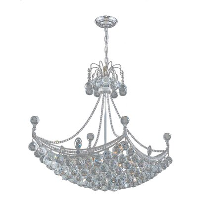 Carson 8-Light Crystal Chandelier Finish: Chrome