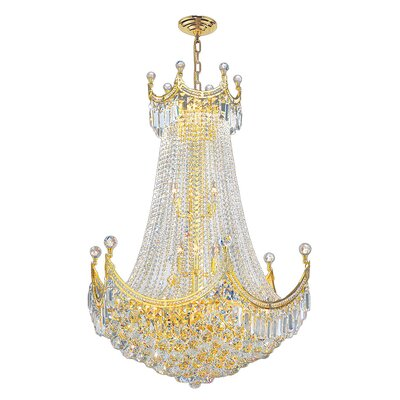 Empire 15-Light Empire Chandelier Finish: Gold