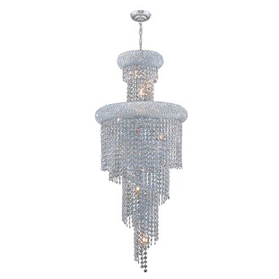 Carson 10-Light Crystal Chandelier Finish: Chrome