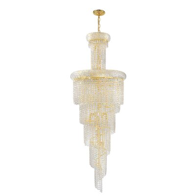 Carson 22-Light Crystal Chandelier Finish: Gold