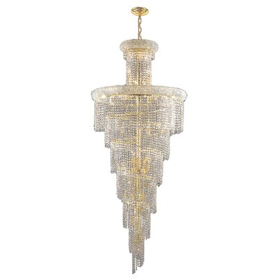 Carson 28-Light Crystal Chandelier Finish: Gold
