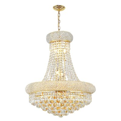 Empire 14-Light Empire Chandelier Size: 32 H x 24 W, Finish: Gold
