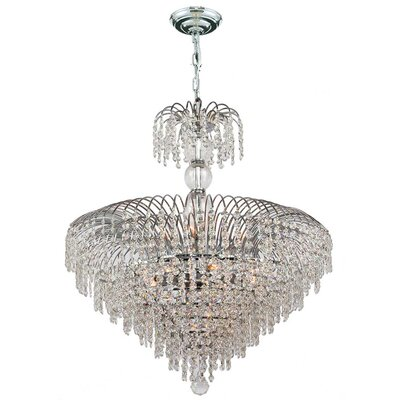 Carson 14-Light Crystal Chandelier Size: 28 H x 24 W