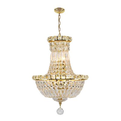 Carson 6-Light Empire Chandelier Finish: Gold