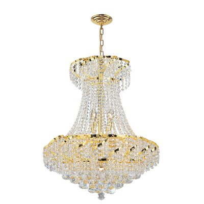 Carson 11-Light Chain Empire Chandelier Finish: Gold