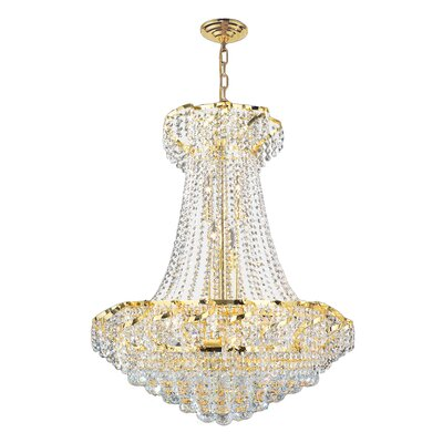 Carson 15-Light Crystal Empire Chandelier Finish: Gold