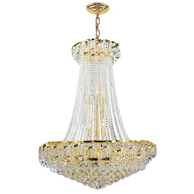 Empire 18-Light Empire Chandelier Finish: Gold