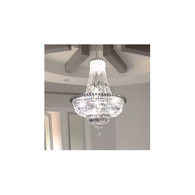 Carson 15-Light 40W Empire Chandelier Finish: Chrome