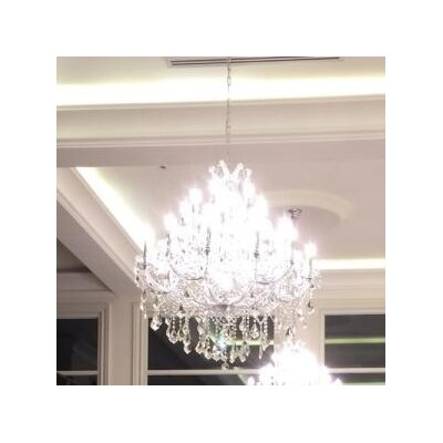 Maria Theresa 28-Light Crystal Chandelier Finish: Chrome