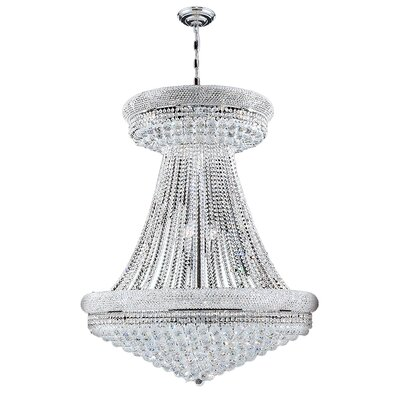 Empire 28-Light Empire Chandelier Finish: Chrome