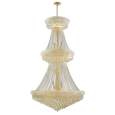 Carson 32-Light Crystal Chandelier Finish: Gold