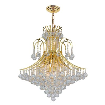 Empire 15-Light Crystal Chandelier Finish: Gold