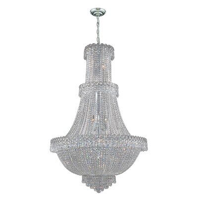 Carson 17-Light Crystal Chandelier Finish: Chrome