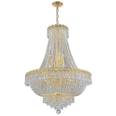 Carson 12-Light Empire Chandelier Finish: Gold