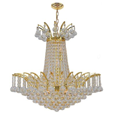 Empire 8-Light Empire Chandelier Finish: Gold