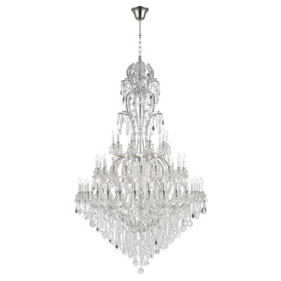 Maria Theresa 60-Light Crystal Chandelier Finish: Chrome