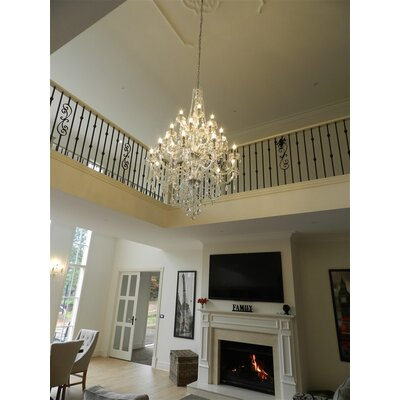Doggett 25-Light Crystal Chandelier Crystal Color: Clear