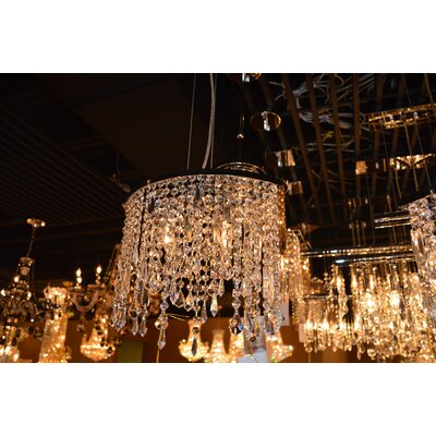 Leist 2-Light Crystal Chandelier Crystal Color: Clear