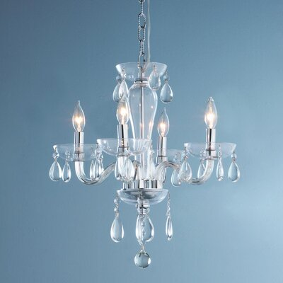Roni 5-Light Crystal Chandelier Glass Color: Clear