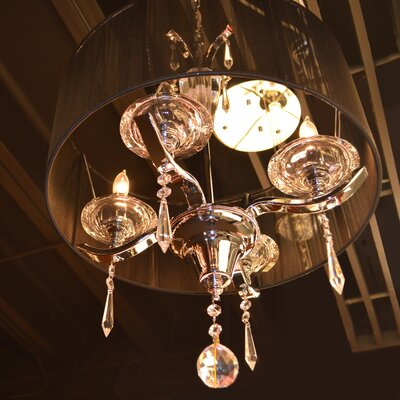 Roni 4-Light Drum Chandelier