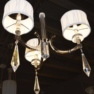 Zinaida 3-Light Drum Chandelier