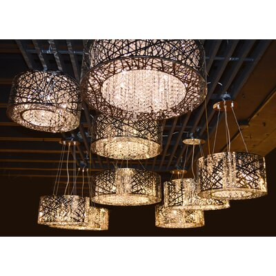 Leite 9-Light Drum Chandelier