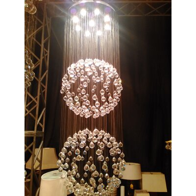 Saturn 9-Light Crystal Chandelier