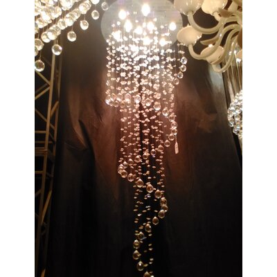Helix 10-Light Waterfall Chandelier Size: 72 H x 24 W