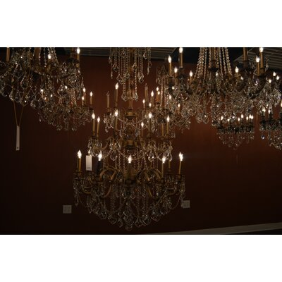 Radtke 25-Light Crystal Chandelier Color: French Gold, Crystal Color: Clear