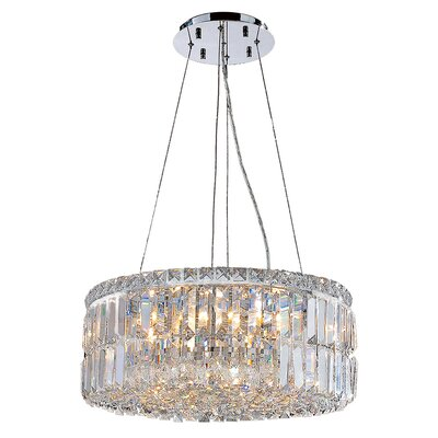 Anjali Glam 12-Light Crystal Chandelier Size: 7.5 H x 24 W