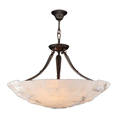 Harwich 5-Light Natural Quartz Bowl Pendant