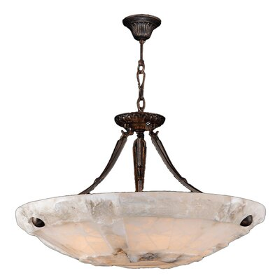 Harwich Contemporary 5-Light Natural Quartz Bowl Pendant