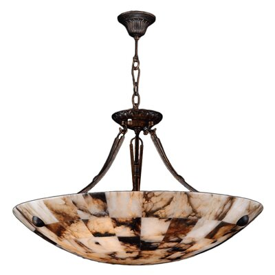 Harwich Contemporary 5-Light Natural Quartz Stone Bowl Pendant