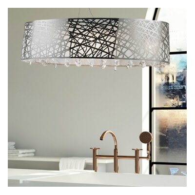 Julie 4-Light Drum Chandelier Size: 11 H x 35 W x 12 D
