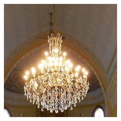 Radtke 45-Light Glass Crystal Chandelier Crystal Color: Clear