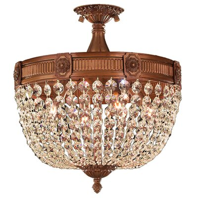 Reimer Crystal 4-Light Semi Flush Mount