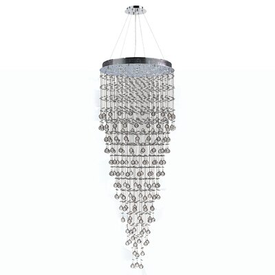 Leiker 16-Light Crystal Chandelier
